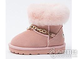 米喜迪mecity童装新款女童金链细节雪地靴