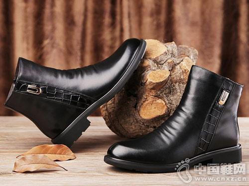 澳伦冬鞋男韩版加绒保暖短靴英伦风皮靴
