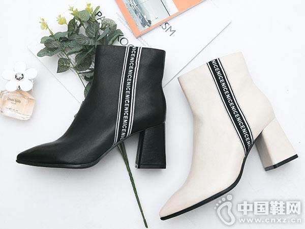 卡文cover冬季新款欧美简约马丁靴
