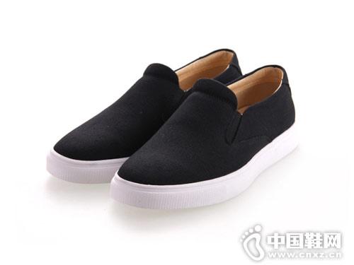 内联升布鞋男鞋新款一脚蹬懒人帆布鞋