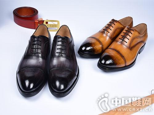 肯迪凯尼定制皮鞋英伦风系带皮鞋