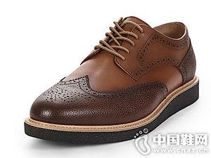 SELECTED思?#36710;?#30007;士新款风布洛克皮鞋