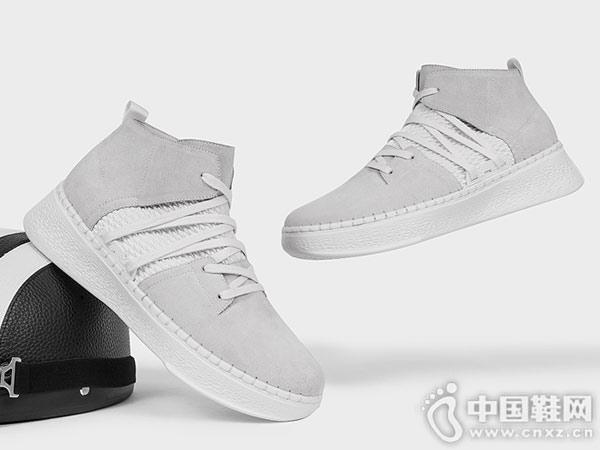 策恩2018冬季新款运动鞋小白鞋