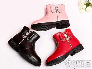 女童靴子秋冬新款小叮当公主皮靴