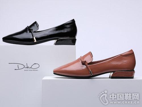 迪朵2018秋新款舒适低跟单鞋