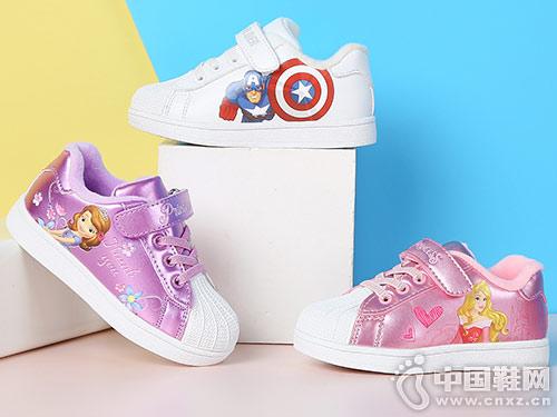 男童板鞋小白鞋迪士尼2018秋冬新款