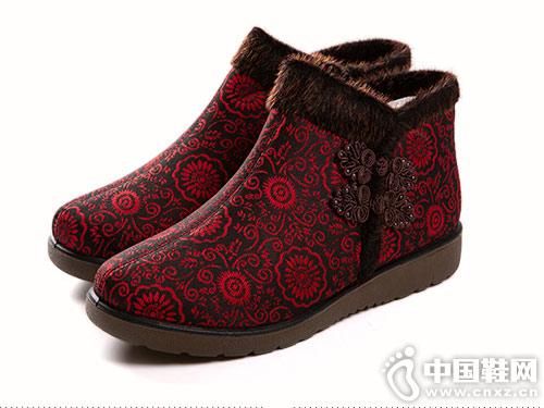 老美�A新款老年人冬季棉鞋 奶奶布鞋