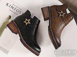 2018新款冬季女鞋韩版百搭珂卡芙短靴