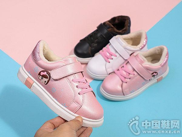 小林川子女童大棉鞋2018新款板鞋