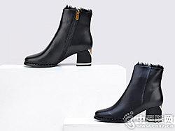 卡斯高Classical2018秋冬圆头时尚百搭短靴