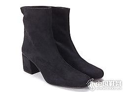 prettyballerinas18秋冬新品欧美中跟尖头短筒踝靴