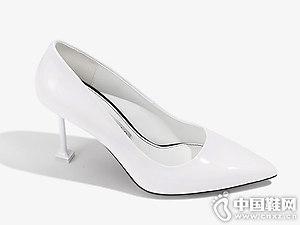 2018爱米高尖头细跟高跟鞋浅口女鞋