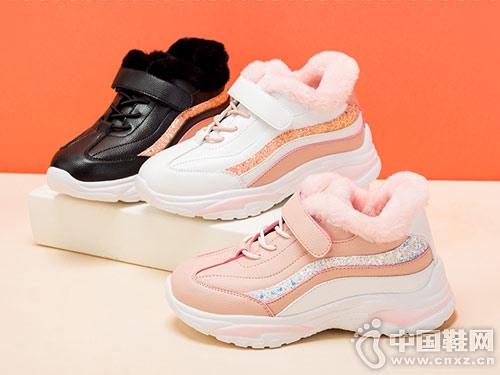 富罗迷女童运动鞋2018冬新款儿童老爹鞋