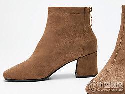 2018新款高跟英伦风短靴西遇女靴