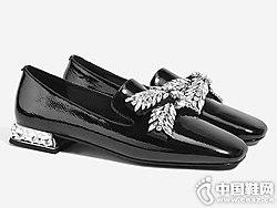 卡美多2019春季新款方头低跟单鞋