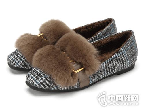 西村名物毛毛鞋女2018冬季新款