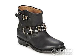 ASH艾熙女鞋百搭舒适低跟短筒靴