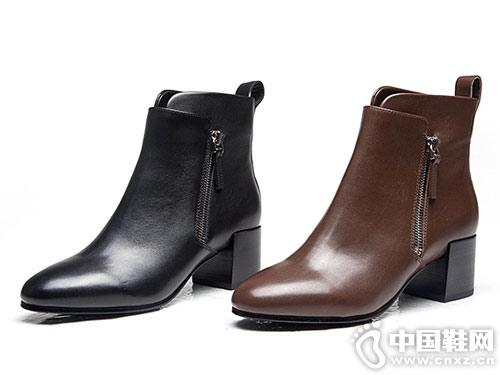 万里马2018秋冬新款英伦帅气切尔西靴