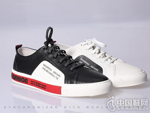 都市情人男潮鞋百搭皮鞋2019新款小白鞋