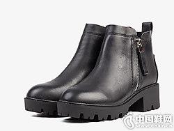 Safiya索菲娅2018冬季新款时尚粗跟短靴