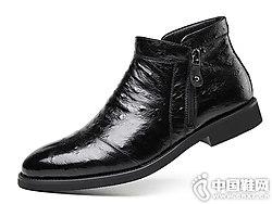 2018新款吉尔达真皮鸵鸟纹皮鞋
