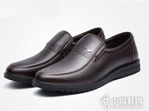 富貴鳥秋冬新款真皮男士皮鞋