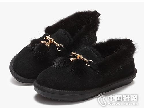 涉趣雪地靴女2018新款棉鞋懒人毛毛鞋