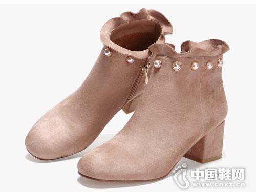 2018新款涉趣小短靴女秋冬季韩版高跟鞋