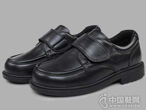 早晨黑皮鞋英伦风儿童小皮鞋2018新款