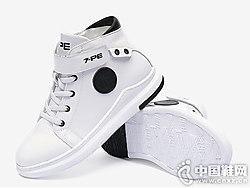 七波�x童鞋秋冬季黑白休�e鞋