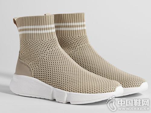 Bershka女鞋2018新款休闲网面袜型短靴