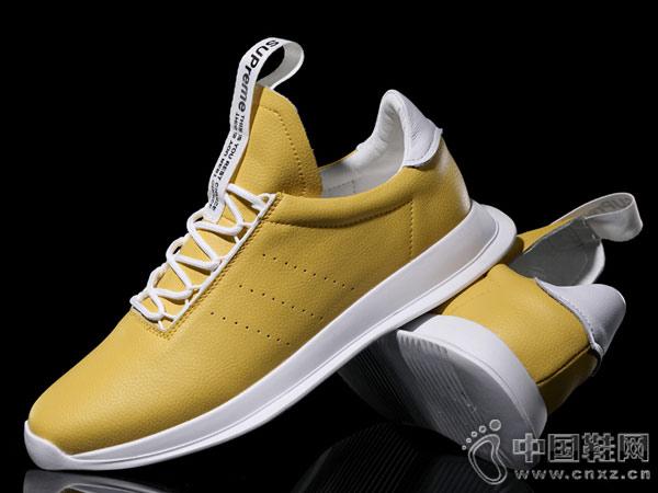 韩版休闲运动皮鞋西域骆驼老爹鞋