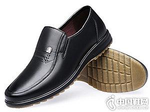 2018冬季新款老人�^休�e皮鞋