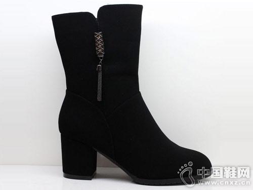 三雄麒2018冬季新款时尚百搭马丁靴