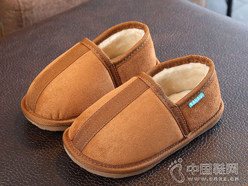 儿童棉拖鞋冬季室内鞋卡巴奇3-6岁