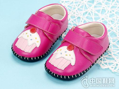 卡巴奇女宝宝鞋0-6-12个月软底学步鞋