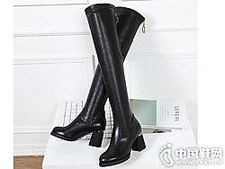 比佳妮2018新款冬季�L筒靴