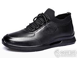 ��人3515男鞋真皮休�e�n版潮鞋