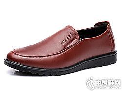 新款��人3515男鞋真皮中老年爸爸鞋