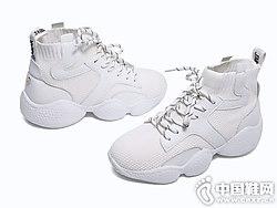 新款厚底运动鞋弹力针织米薇卡休闲鞋