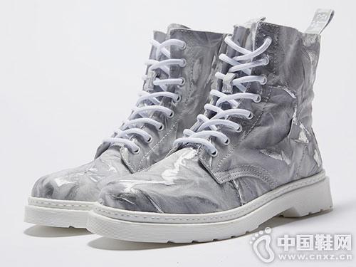 维界高帮男鞋韩版真皮时尚马丁靴