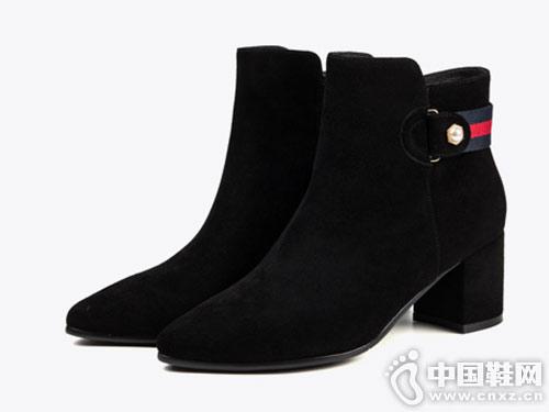 2018星期六秋冬季新款高帮短靴