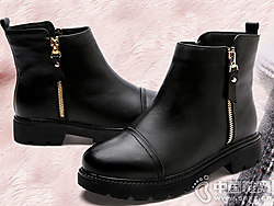 吉祥鸟女靴真皮马丁靴女英伦短靴