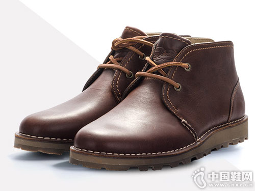 SPERRY斯佩里男靴 舒适真皮系带平底短靴