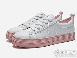 热风2019年春季新款女士潮流小白鞋