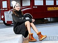 慕兰茜2018厚底短靴冬季新款