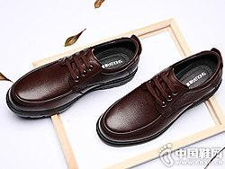 兽霸男士皮鞋秋季真皮英伦休闲鞋