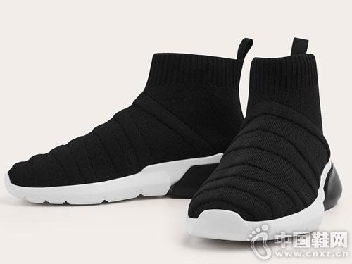 GXG男鞋高帮鞋男冬季袜子鞋运动高帮