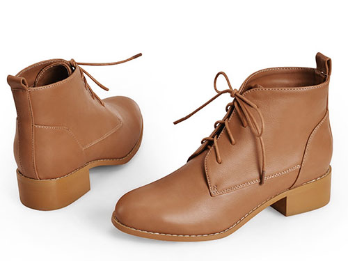 �R丁靴女英���L新款短靴子女粗跟低跟百搭