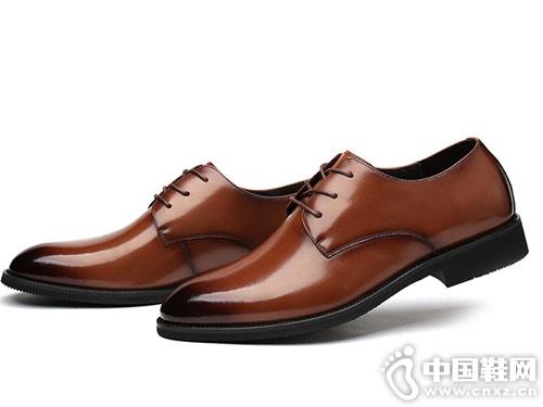 澳伦男鞋冬季男士商务正装皮鞋